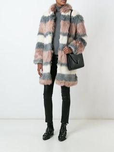 Giamba striped fur coat