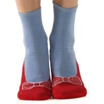 WIZARD OF OZ Non-skid Red Ruby Slippers/Blue Slipper Socks