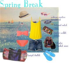 """spring break"" by uniquebatikfairtrade on Polyvore"