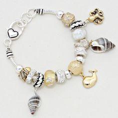 Murano Glass Seashell Bracelet