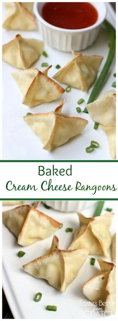 Baked Cream Cheese Rangoons are SO easy and taste amazing!