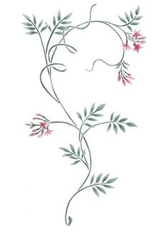 More Jasime Vine Wall Stencil by DeeSigns