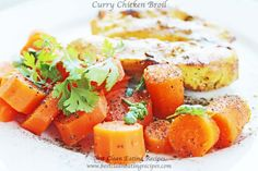 clean eating dinner idea for clean eating meal plan: curry chicken broil #cleaneating #eatclean #healthyrecipes