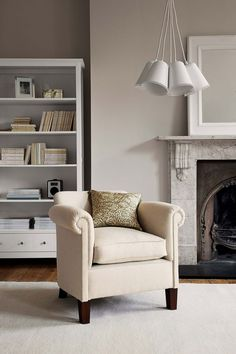 layers of white and creams, armchair living