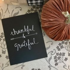 🍁 ITEM OVERVIEW - THANKFUL & GRATEFUL ART PRINT🍂🍁 Add a little inspiration to your home decor with this THANKFUL & GRATEFUL custom print 🍁 • Custom Calligraphy / Hand-lettered / Hand-Drawn Chalkboard Paper Print Great for your own fall home decor or just to wish someone else a Happy Fall! • Heavyweight Chalkboard Stock Paper - Print Only - ( Frame not included) (Frame can be added at an additional cost - Message me before buying this listing) • 8x10 • White Chalk Pen 🍁 This listing i...