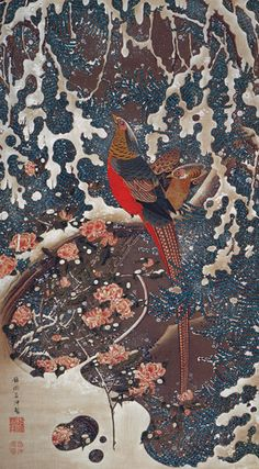 今日は伊藤若冲《雪中錦鶏図》を紹介します。このブログでも以前書いた記憶がありますが、大学時代のゼミで初めてテーマを持って学んだのが、この作品。この絵から、私と美術の関わりが始まったのでした。  粘液のような雪、ドラマチックな枝の流れ、華麗に咲く淡い花々、そして繊細で美しい錦鶏。と...