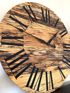 Your place to buy and sell all things handmade Wooden Clock, Wooden Walls, Handmade Clocks, C Table, Spalted Maple, Kiln Dried Wood, Clock Parts, Live Edge Table, Types Of Wood
