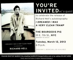 """""""karateboogaloo:  Daily Travels: Richard Hell book party  """""""