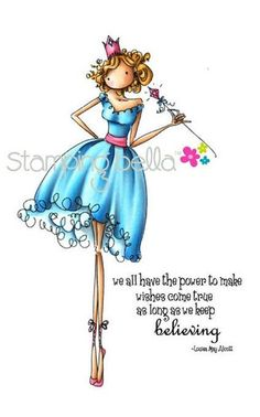 """Stamping Bella Uptown Girl """"Faith the Fairy"""" Rubber Stamp – Quick Creations #StampingBella #Stamping #QuickCreations"""