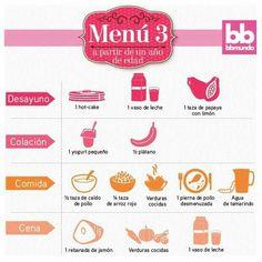 Menú para niños a partir de 1 año de edad Toddler Meals, Kids Meals, Baby Meals, Healthy Baby Food, Healthy Life, Baby Food Recipes, Healthy Recipes, Baby Eating, My Little Baby