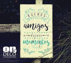 Cartel vintage | Buenos amigos, buenos momentos - comprar online