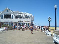 Bethany Beach Boardwalk And Clock Delaware Delmarva Peninsula
