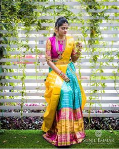 Half Saree Lehenga, Kids Lehenga, Lehnga Dress, Khadi Saree, Anarkali, Half Saree Designs, Sari Blouse Designs, Pink Half Sarees, Long Gown Dress