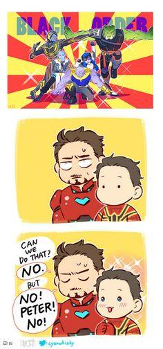 Team Thanos? || Tony & Peter / Avengers Infinity War || Cr: 澈(Che)