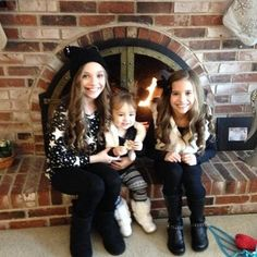 Maddie and Mackenzie with their cousin.