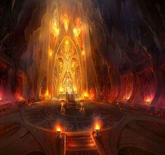 Fantastic Conceptual Art by Jae-Cheol Park - I. Fantasy City, Fantasy Castle, World Of Fantasy, Fantasy Map, Fantasy Places, High Fantasy, Dark Fantasy Art, Medieval Fantasy, Fantasy Concept Art