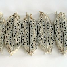 """Jo Deeley """"Pods"""" - inventing textiles using weaving, plaiting, knotting and manipulating fabrics and threads"""
