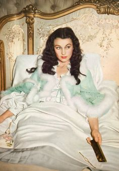 Vivien Leigh in Gone with the Wind. So fabulous. This is a lot like me any time before 2pm on my days off.