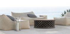 Comfortable low profiles monochrome Lanai furniture Ibiza Collection | RH Modern