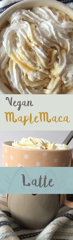 Maple maca coconut milk vegan latte