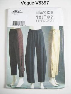 Vogue V8397 - Misses' Pull-On Pants - MARCY TILTON - Sz 16/18/20/22