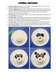 Panda cupcake topper