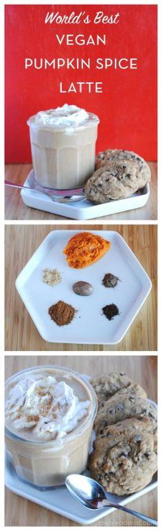 The Blenderist | Vegan Pumpkin Spice Latte | http://theblenderist.com #psl #starbucks