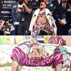 Connor McGregor out here looking like Doflamingo from One Piece. Bolly4u