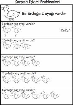 Çarpma işlemi Maths Display, Math Sheets, Learn Turkish, Multiplication, Worksheets, Activities For Kids, Homework, Math Equations, Learning