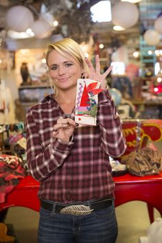 Miranda Lambert shows her work after a Junk Gypsies sewing lesson. See more from #JunkGypsies at Great American Country >> http://www.greatamericancountry.com/shows/junk-gypsies?soc=pinterest