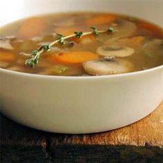 Barley-Mushroom Soup | MyRecipes.com #MyPlate #vegetable #grain