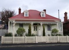 A unit for measurement of land equaling square feet; or square yards; or 160 square rods; or a tract about feet square. Victorian Style Homes, Edwardian House, Victorian Cottage, House Exterior Color Schemes, House Paint Exterior, Exterior Colors, Exterior Design, Red Roof House, House With Balcony