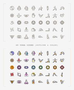 Freebie: Yoga Icons (AI, SVG, PNG More