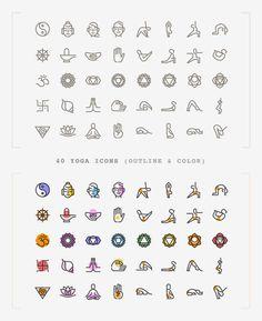 Freebie: Yoga Icons (AI, SVG, PNG