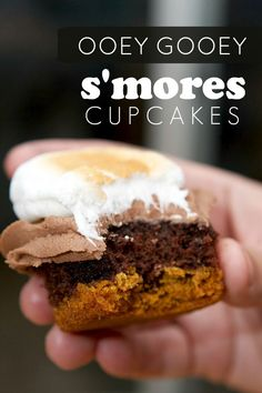 Ooey Gooey S'mores Cupcakes #seethedifference AD