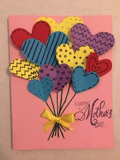Mother day card mothersdaycard mothersday card diy mom 4 easy mother s day cards to make Kids Crafts, Diy Mother's Day Crafts, Mothers Day Crafts For Kids, Diy Mothers Day Gifts, Mother's Day Diy, Crafts For Kids To Make, Happy Mothers, Mothers Day Cards Homemade, Diy Gifts