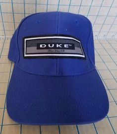 4e64e0ea26d Duke Blue Devils Script Hat Sports Specialties Blue Velcro adjustable Cap  VTG 90  SportsSpecialties