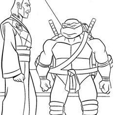 ninja turtle talk on friends coloring page - Ninja Turtle Pizza Coloring Pages