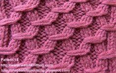 Embossed Knitting Stitch: Hexagonal Stitch