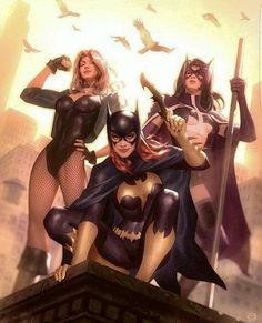Black Canary, Huntress, & Bat Girl