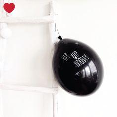 zwarte ballonnen - Jetjes & Jobjes