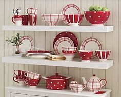 plaids and dots dishware