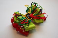 ABC Back to School Hair Bow.  Customize by CookieandMaxBoutique, $12.00