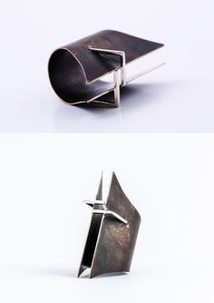 Vika Mayzel Jewelry RING  oxidized sterling silver