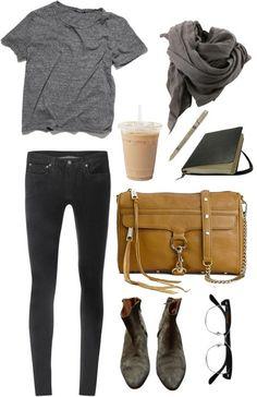 grey tee + black skinny jeans = my uniform