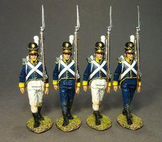 Portuguese Line Infantry, 21st Line Infantry Regt., 4 Line Infantry Marching Set #1