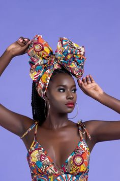 The headwrap originated in sub-Saharan Africa and serves similar functions for both African and African American women. In style, the African American woman's headwrap exhibits the features of sub-Saharan aesthetics and worldview Beautiful African Women, Beautiful Dark Skinned Women, African Beauty, Beautiful Black Women, African Fashion, Beautiful Gowns, Black Women Art, Black Girls, Skin Girl