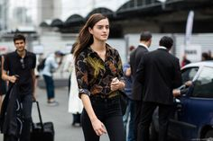 off duty contd | A Love is Blind - Paris Fashionweek ss2014 day1, outside Dries van Noten
