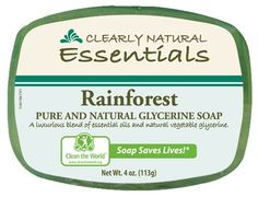Clearly Natural Bar Soap in Rainforest scent