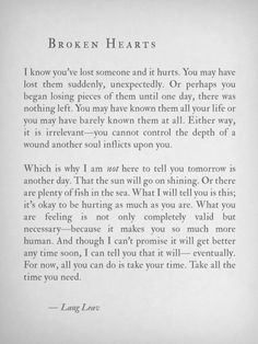 by lang leav All the words I wish I could come up with when my friends are hurting. Great Quotes, Quotes To Live By, Me Quotes, Inspirational Quotes, Hurt Quotes, Qoutes, Quotes For You, Get Over Him Quotes, I Needed You Quotes